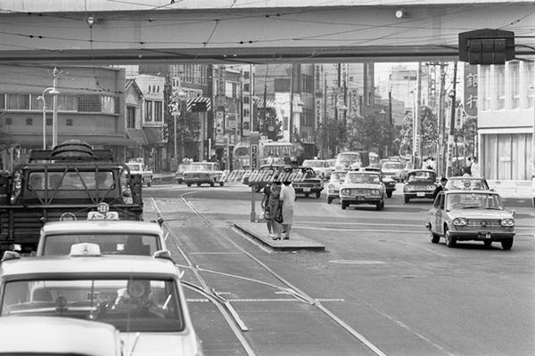 1968年の六本木交差点
